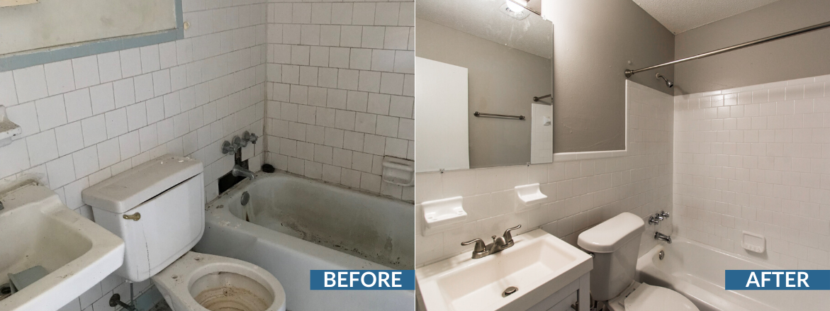 Norris Place Bathroom Before and After