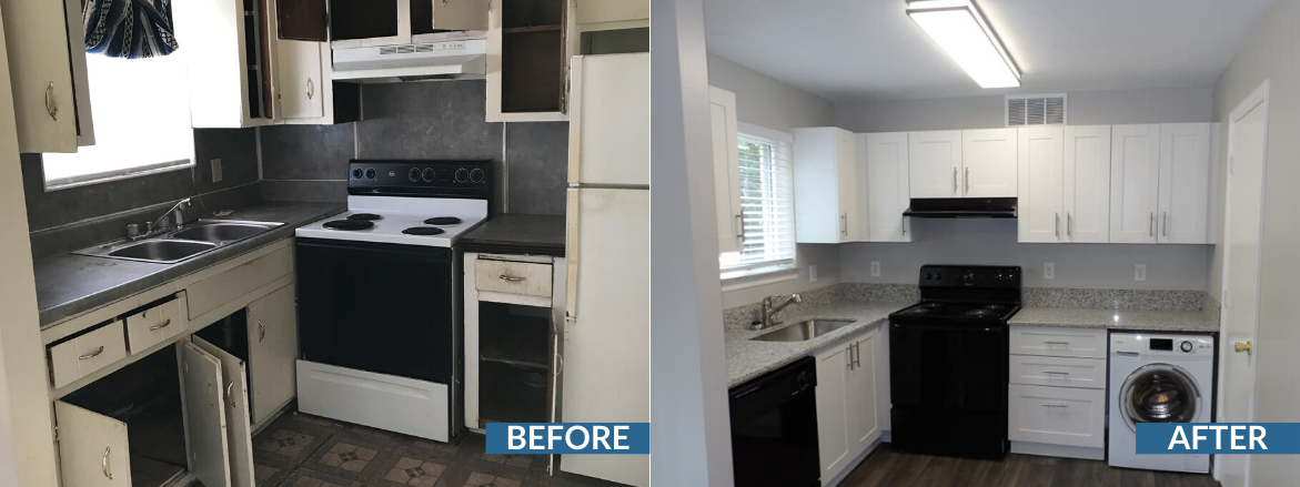 Norris Place Kitchen Before and After
