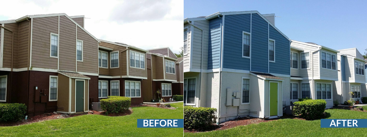 Ashford at Feather Sound Exterior Paint Before and After