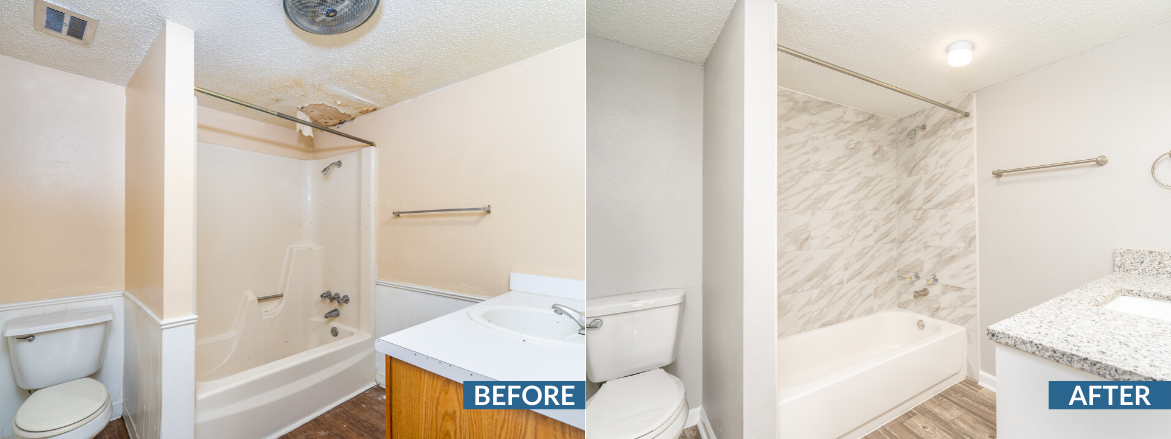 Bridge Creek Bathroom Before and After