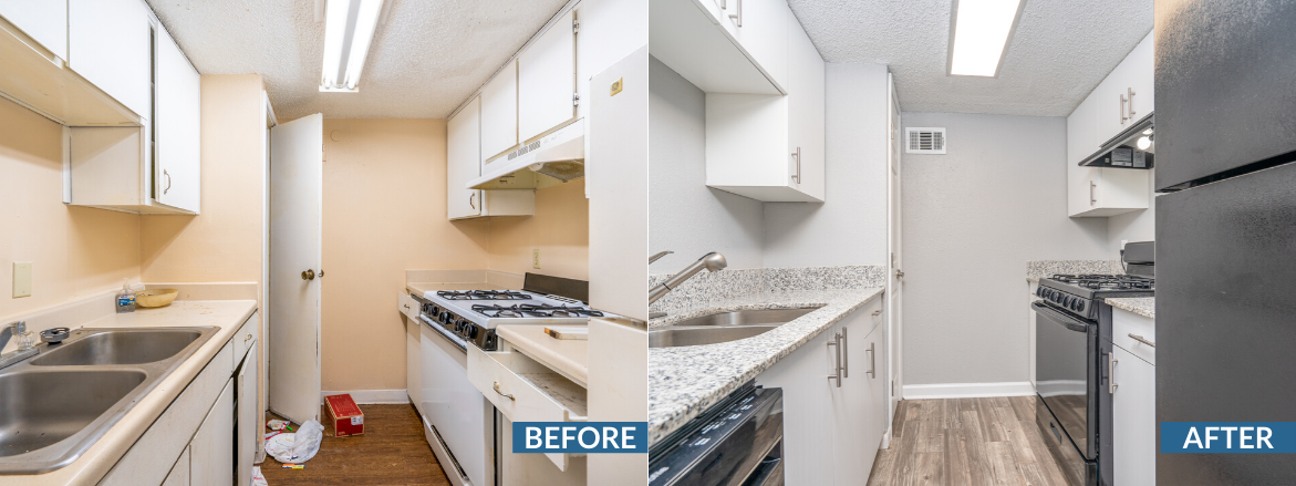 Bridge Creek Kitchen Before and After