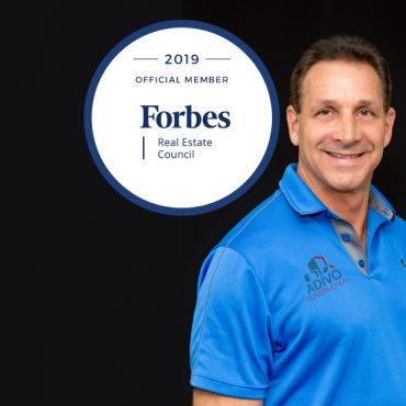 JEFF ROSENFELD, EVP OF ADIVO CONSTRUCTION ACCEPTED INTO FORBES REAL ESTATE COUNCIL