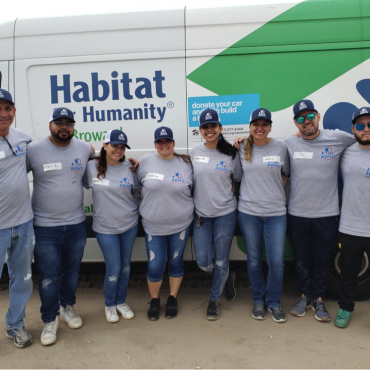 THE ADIVO CONSTRUCTION TEAM LENDS A HELPING HAND  TO HABITAT FOR HUMANITY