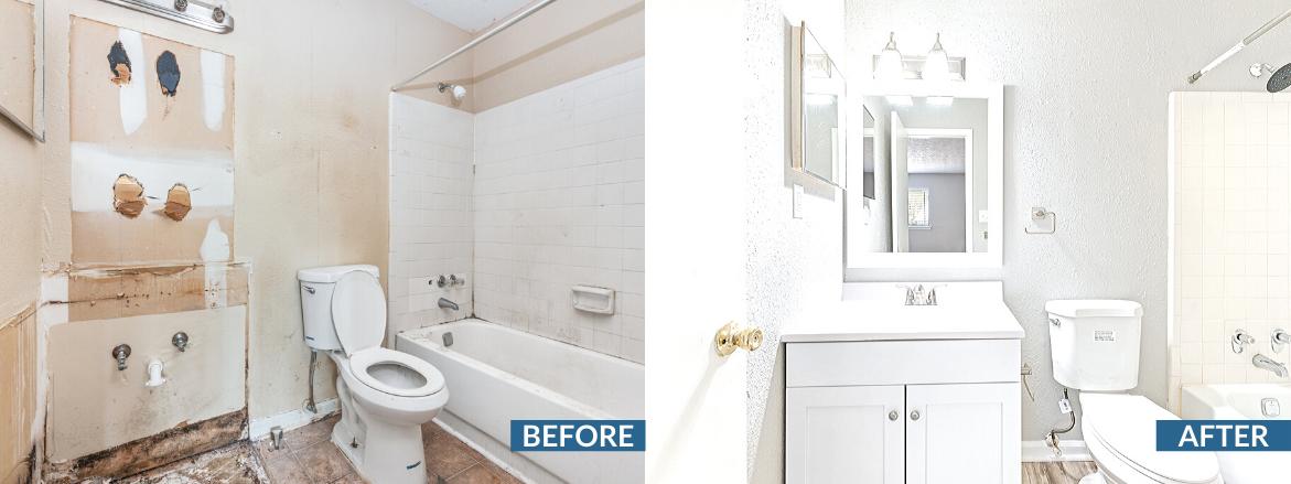 Park Estates Website Bathroom Before and After
