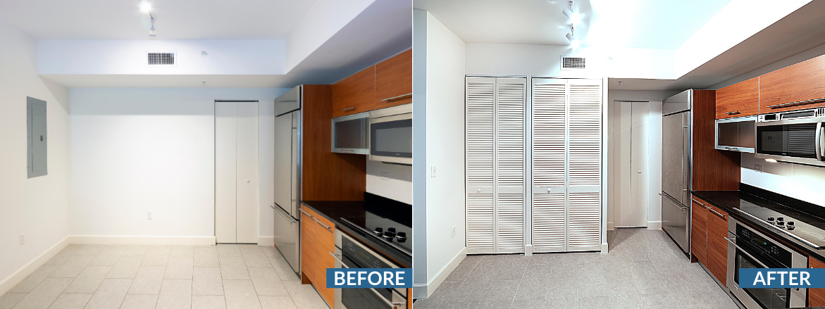 Oasis Tower II Kitchen Website Before and After