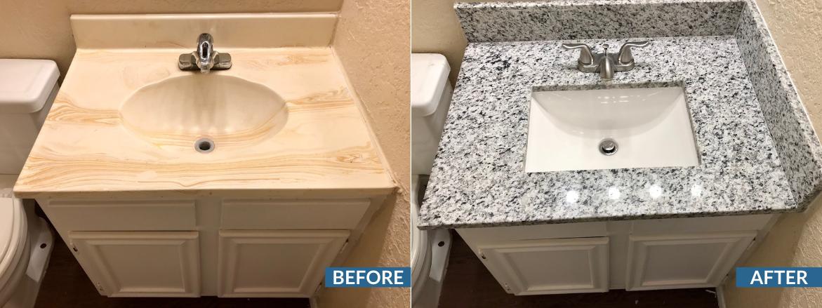 Vista Ventana Bathroom Before and After