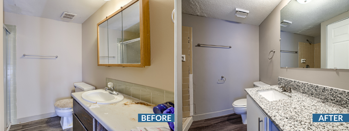 Legacy Crossing Bathroom Before and After