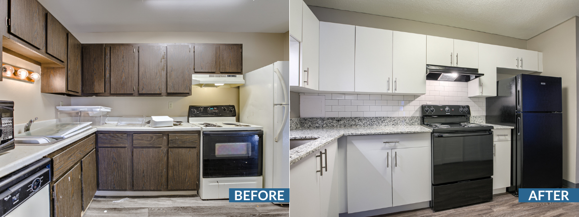 Legacy Crossing KitcheLegacy Crossing Kitchen Before and Aftern Before and After