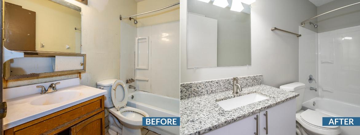 Whispering Oaks Bathroom Before and After Website Slider