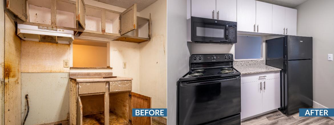 Whispering Oaks Kitchen Before and After Website Slider