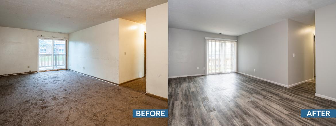 Whispering Oaks Living Area Before and After Website Slider